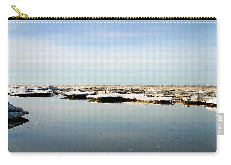 Ocean Carry-all Pouch featuring the photograph River To The Arctic Ocean by Anthony Jones