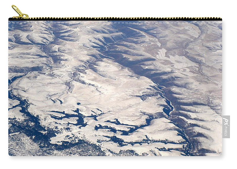 Aerial Carry-all Pouch featuring the photograph River Valley Aerial by Carol Groenen
