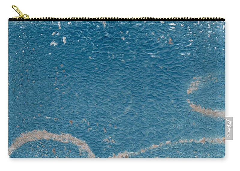 Abstract Carry-all Pouch featuring the painting River Walk by Linda Woods