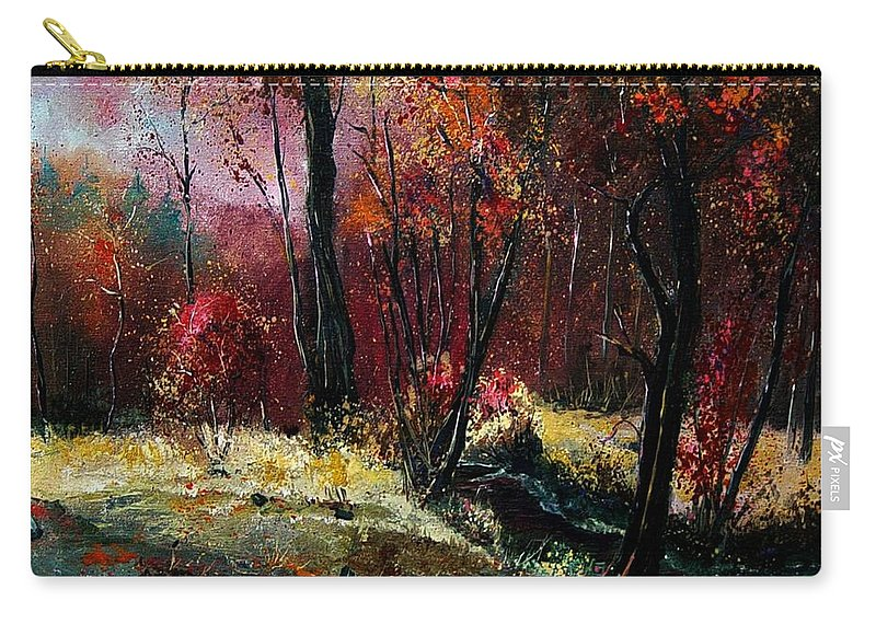 River Carry-all Pouch featuring the painting River Ywoigne by Pol Ledent