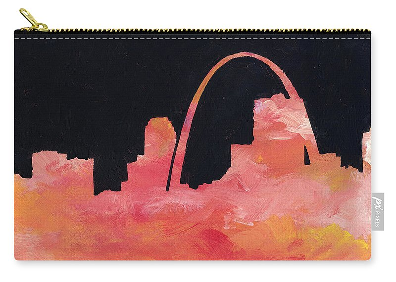 Cityscape Carry-all Pouch featuring the painting Riverfront by Joseph A Langley