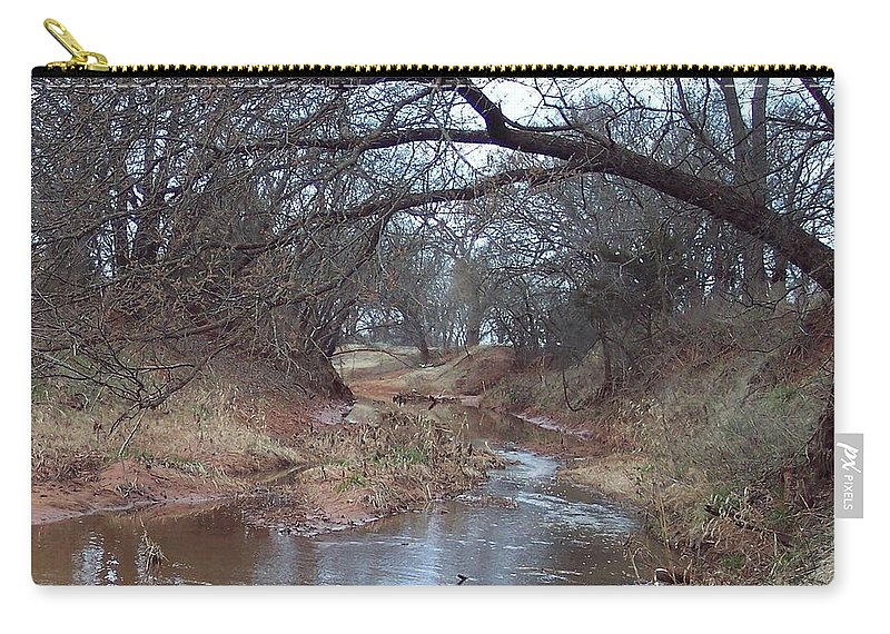 Landscapes Carry-all Pouch featuring the photograph Rivers Bend by Shari Chavira