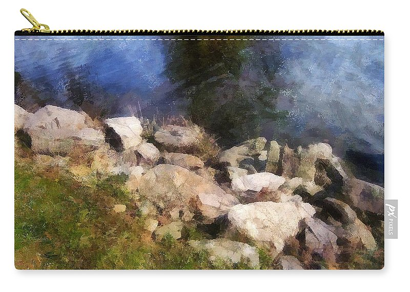Connecticut Carry-all Pouch featuring the painting River's Edge by RC DeWinter