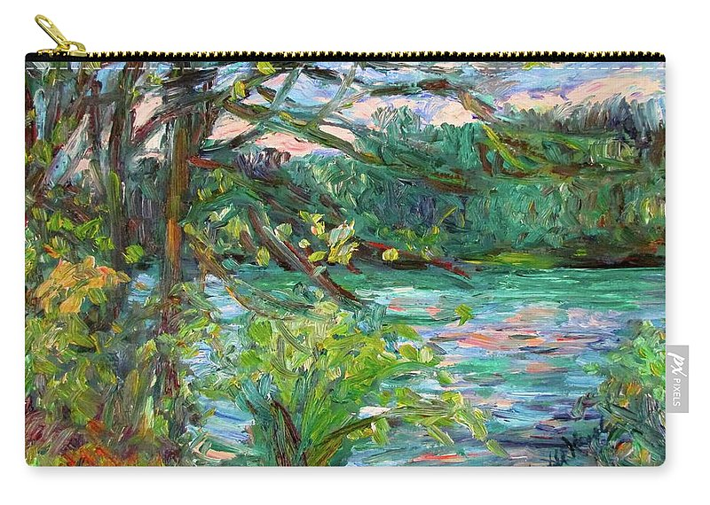 Rivers Carry-all Pouch featuring the painting Riverview Spring Stage One by Kendall Kessler