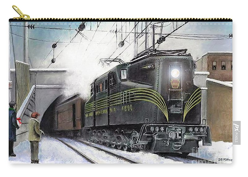 Pennsylvania Railroad Carry-all Pouch featuring the painting Rivets by David Mittner