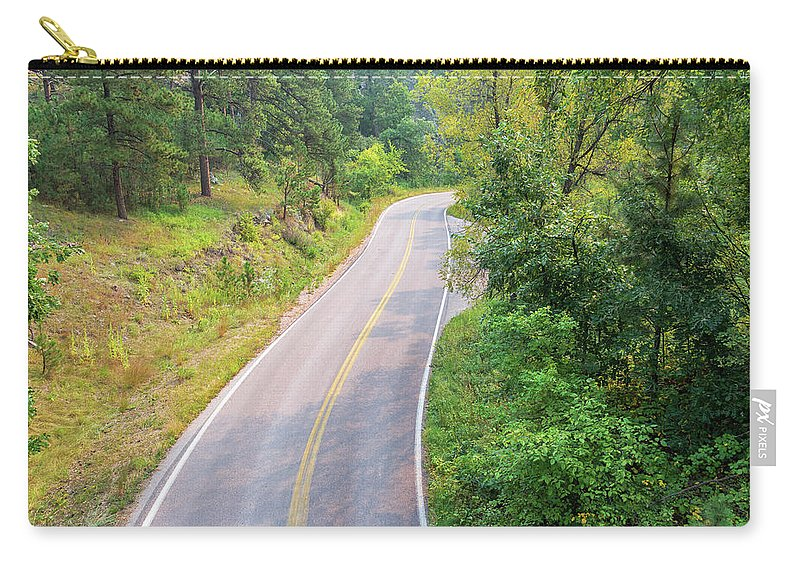 Custer State Park Carry-all Pouch featuring the photograph Road In The Black Hills by Jess Kraft