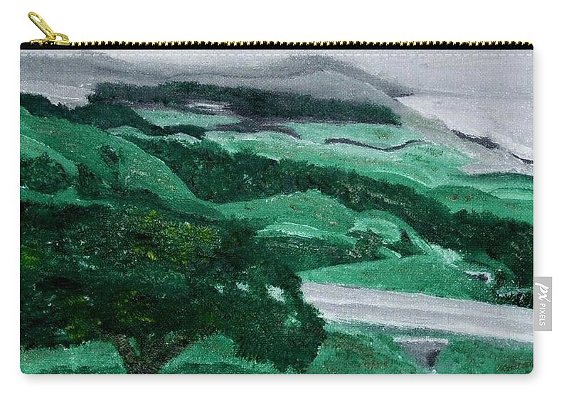 Hearst Castle Carry-all Pouch featuring the painting Road Leading To Hearst Castle by Leslye Miller