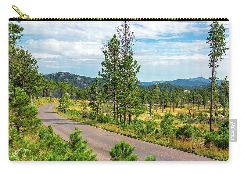 Custer State Park Carry-all Pouch featuring the photograph Road Through Custer State Park by Jess Kraft