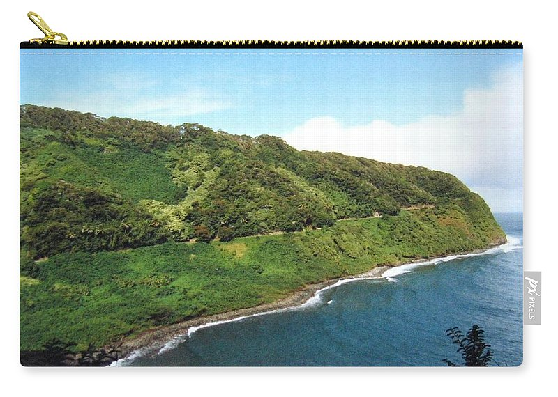 1986 Carry-all Pouch featuring the photograph Road To Hana by Will Borden