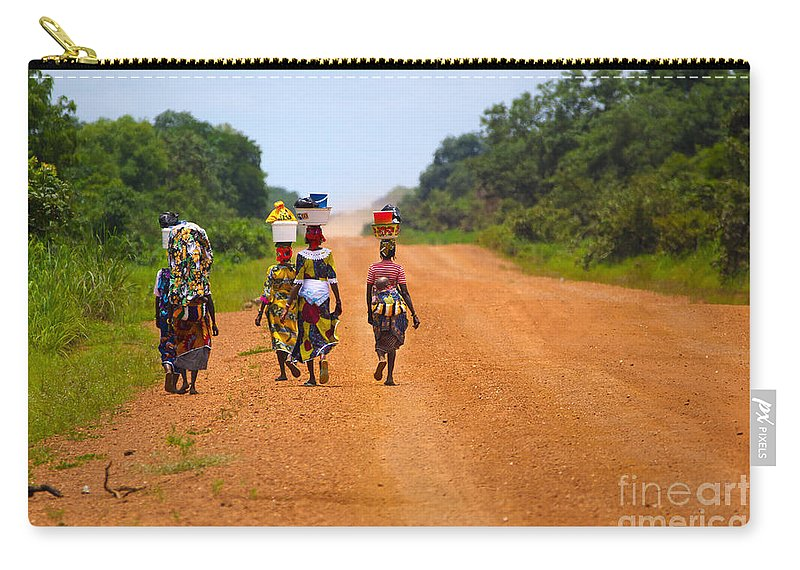 Ghana Carry-all Pouch featuring the photograph Road To Home by Naoki Takyo