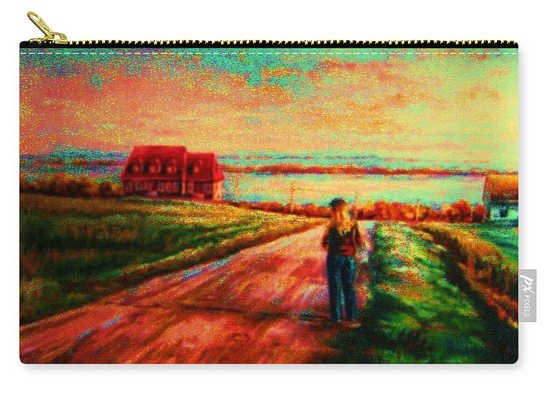 Mystery Road Carry-all Pouch featuring the painting Road To Red Gables by Carole Spandau