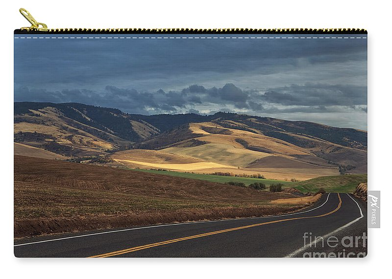 Walla Walla Carry-all Pouch featuring the photograph Road To The Blue's by Karen Goodwin