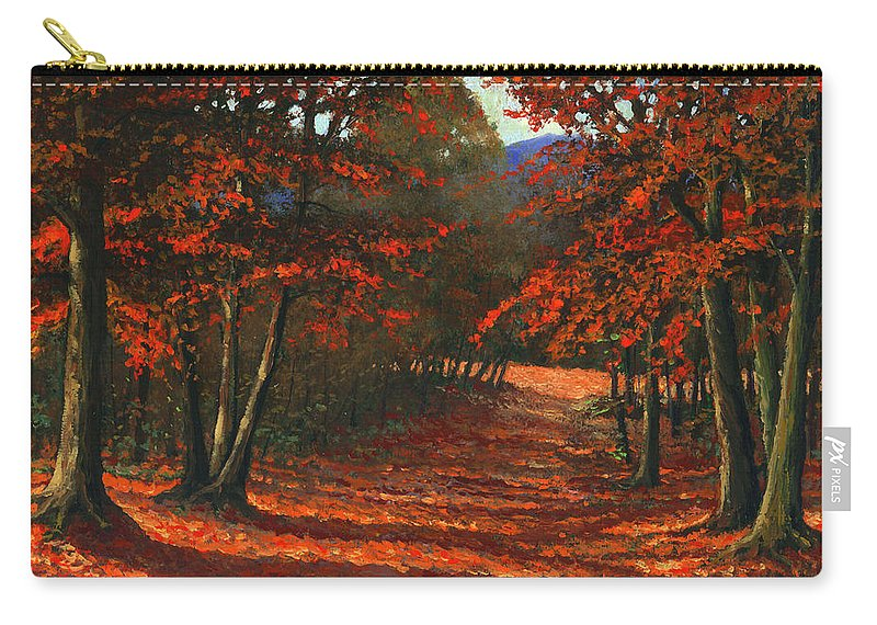 Landscape Carry-all Pouch featuring the painting Road To The Clearing by Frank Wilson