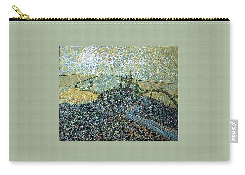 Landscape Carry-all Pouch featuring the painting Road To Tuscany by Stefan Duncan