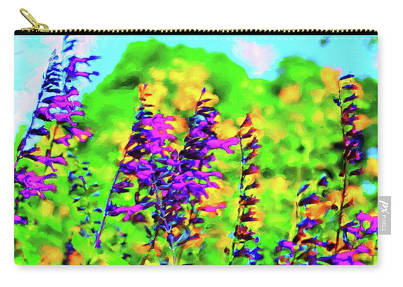 Flowers Carry-all Pouch featuring the digital art Roadside Wildflowers by Nancy Faircloth