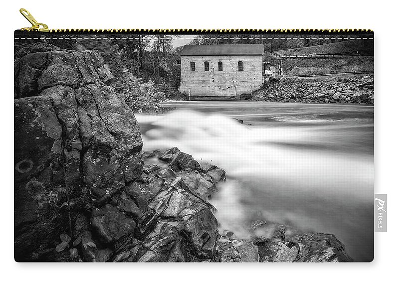 Roanoke Carry-all Pouch featuring the photograph Roanoke River Flow by Alan Raasch