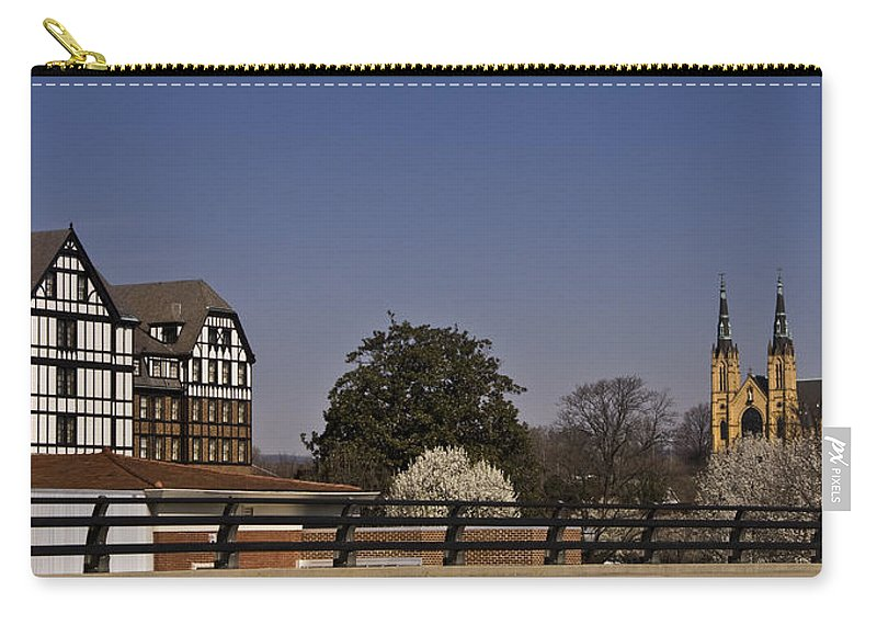 Roanoke Carry-all Pouch featuring the photograph Roanoke Virginia Springtime Cityscape by Teresa Mucha