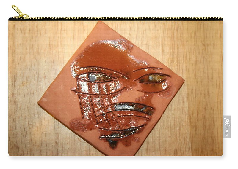 Jesus Carry-all Pouch featuring the ceramic art Roar - Tile by Gloria Ssali