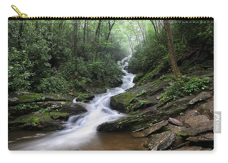 Roaring Fork Falls Carry-all Pouch featuring the photograph Roaring Fork Falls by Chris Berrier