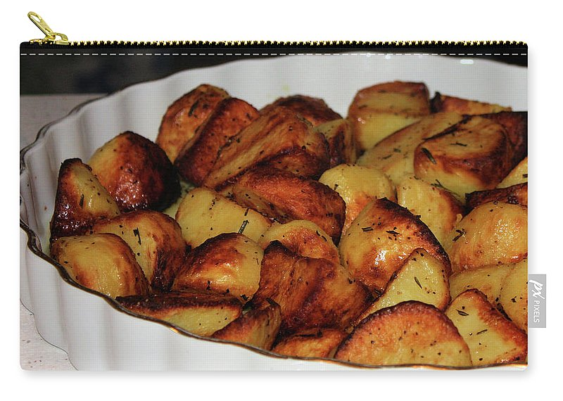Potatoes Carry-all Pouch featuring the photograph Roasted Potatoes by Kristin Elmquist