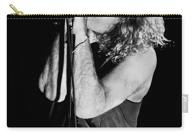 Robert Plant Carry-all Pouch featuring the photograph Robert Plant-0040 by Timothy Bischoff