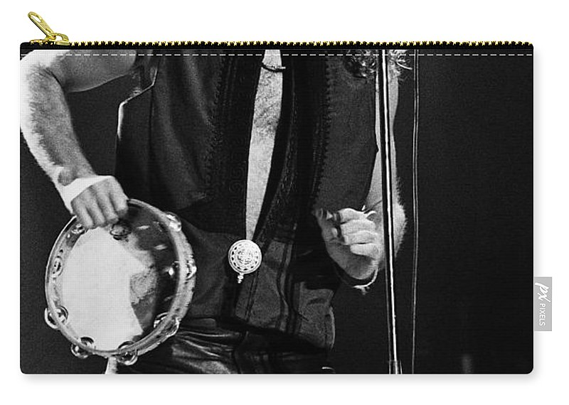 Robert Plant Carry-all Pouch featuring the photograph Robert Plant-0062 by Timothy Bischoff