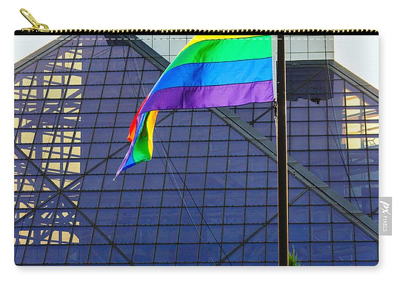 Cleveland Carry-all Pouch featuring the photograph Rock And Roll Hall Of Fame by Stewart Helberg