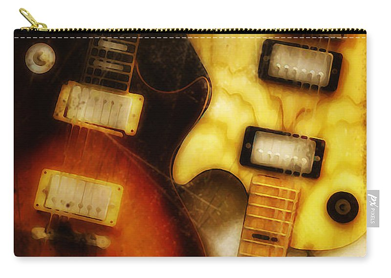 Les Paul Carry-all Pouch featuring the photograph Rock And Roll Never Forgets by Bill Cannon