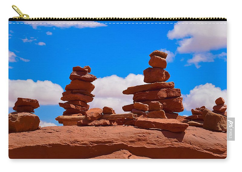 Rock Cairns In The Desert Carry All Pouch For Sale By Dany Lison
