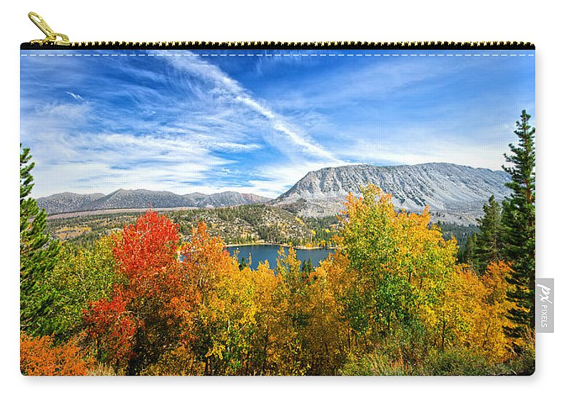 Fall Carry-all Pouch featuring the photograph Rock Creek Lake Fall Panorama by Lynn Bauer