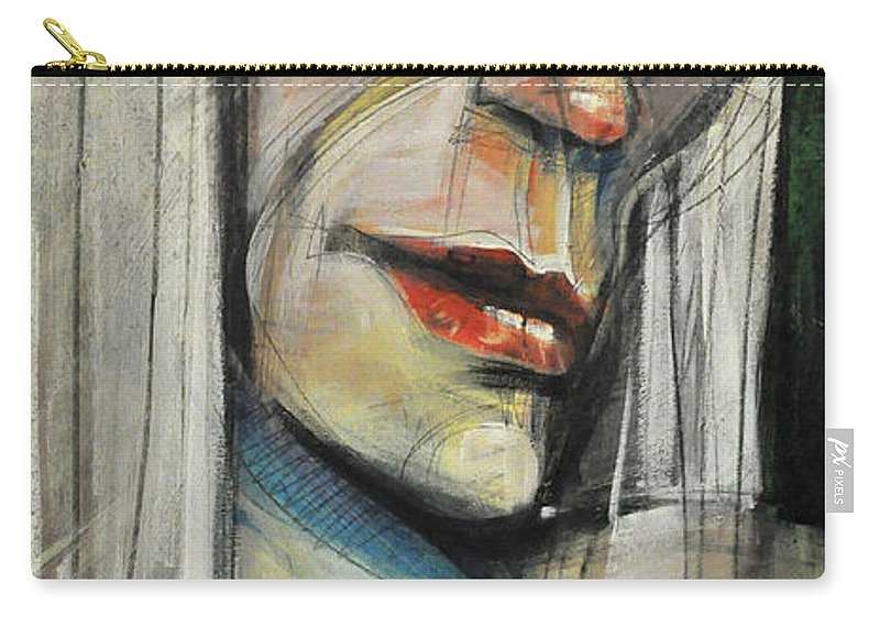 Woman Carry-all Pouch featuring the painting Rock Diva Or Pris by Tim Nyberg