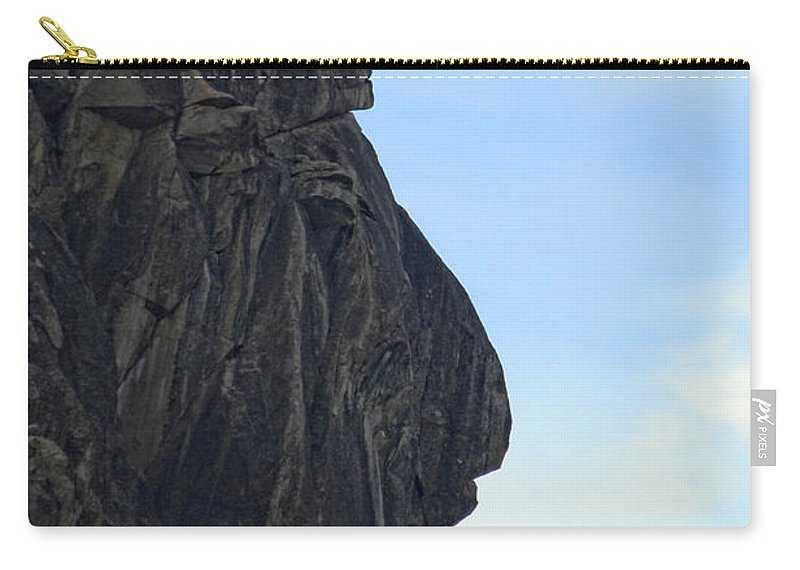 Rock Carry-all Pouch featuring the photograph Rock Face by Donna Blackhall
