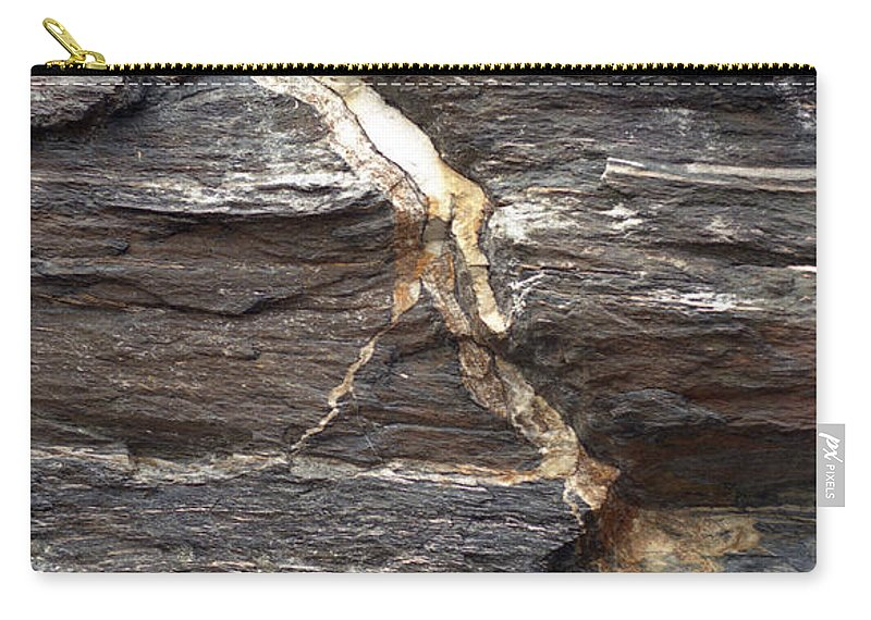 Rock Face Carry-all Pouch featuring the photograph Rock Face by Richard Rizzo
