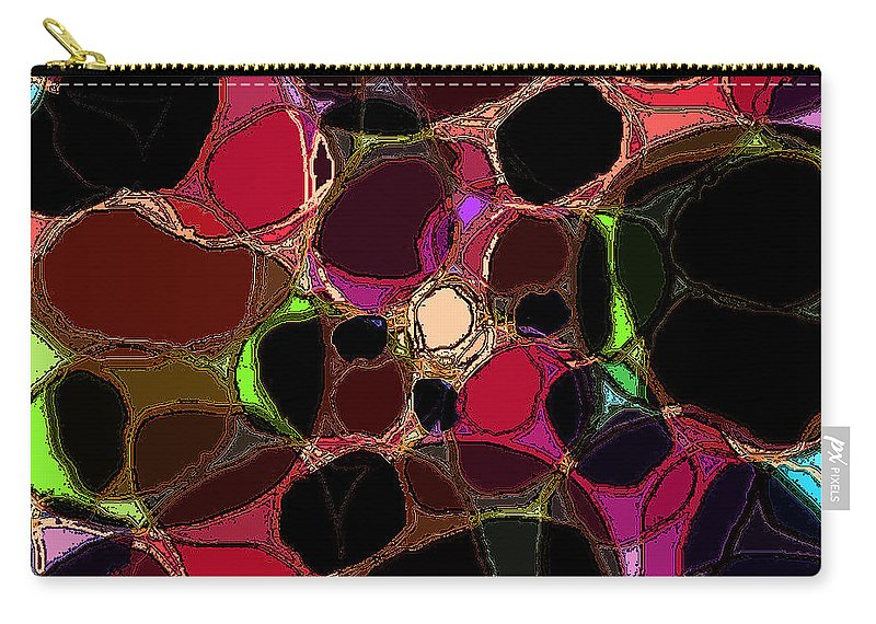 Abstract Carry-all Pouch featuring the digital art Rock Figment by Rachel Christine Nowicki