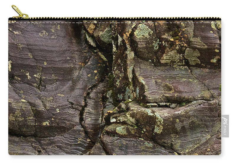 Scotland Carry-all Pouch featuring the photograph Rock Flow by Colette Panaioti