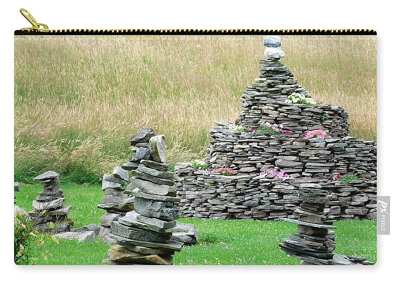 Countryside Carry-all Pouch featuring the photograph Rock Garden by Jerry O'Rourke