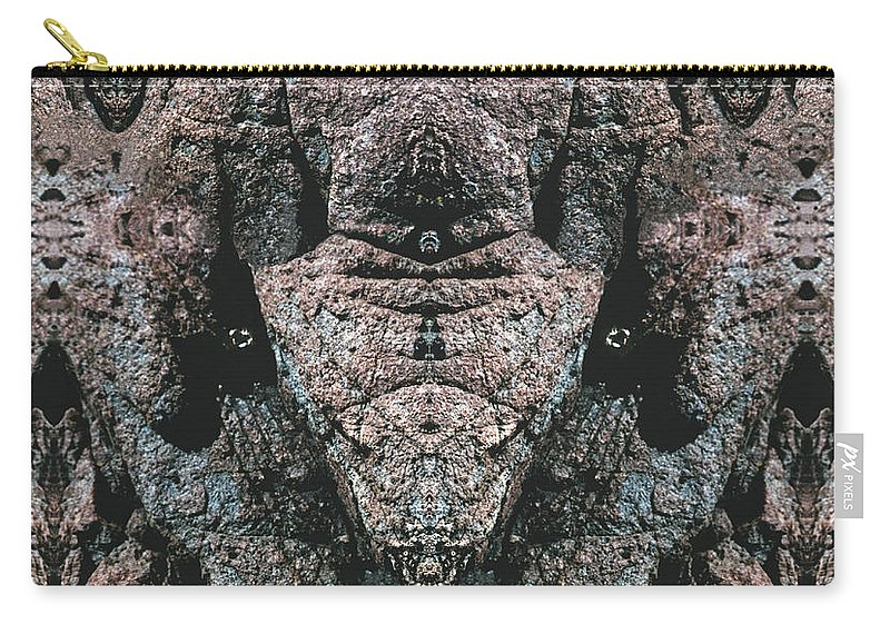 Rocks Carry-all Pouch featuring the digital art Rock Gods Elephant Stonemen of Ogunquit by Nancy Griswold