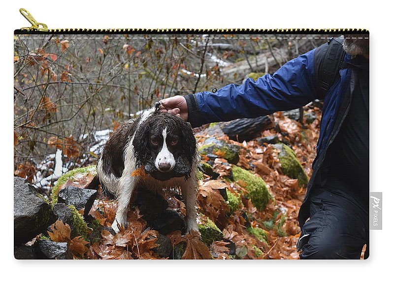 Dogs Carry-all Pouch featuring the photograph Rock Hound by Thomas Sexton