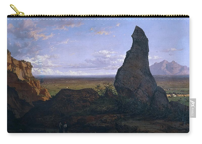 Lluis Rigalt Carry-all Pouch featuring the painting Rock In Montserrat by Lluis Rigalt