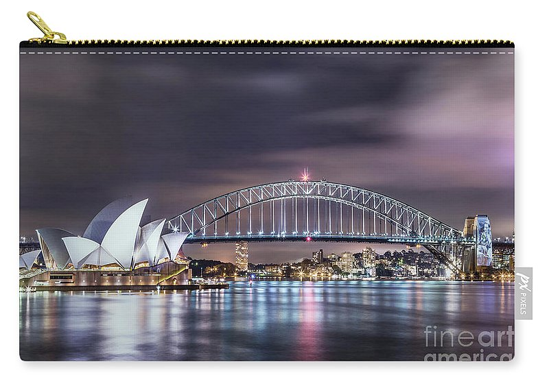 Kremsdorf Carry-all Pouch featuring the photograph Rock Into The Night by Evelina Kremsdorf