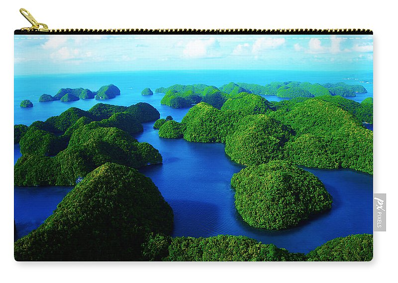 Seascape Carry-all Pouch featuring the photograph Rock Islands by Mumbles and Grumbles