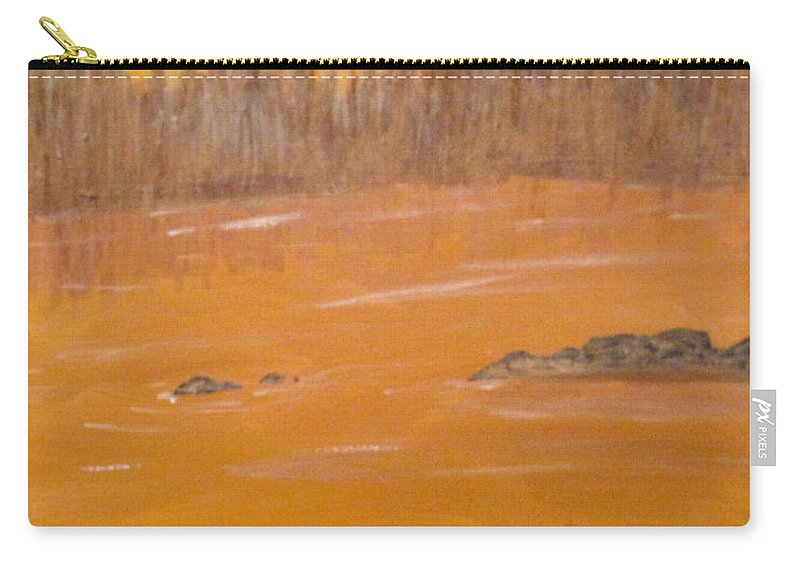 Northern Ontario Carry-all Pouch featuring the painting Rock Lake Morning 2 by Ian MacDonald