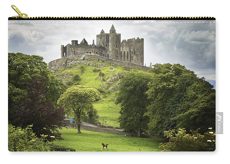 Blue Sky Carry-all Pouch featuring the photograph Rock Of Cashel Cashel County Tipperary by Patrick Swan
