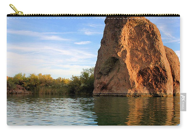 Stone Carry-all Pouch featuring the photograph Rock Reflected by Kristin Elmquist