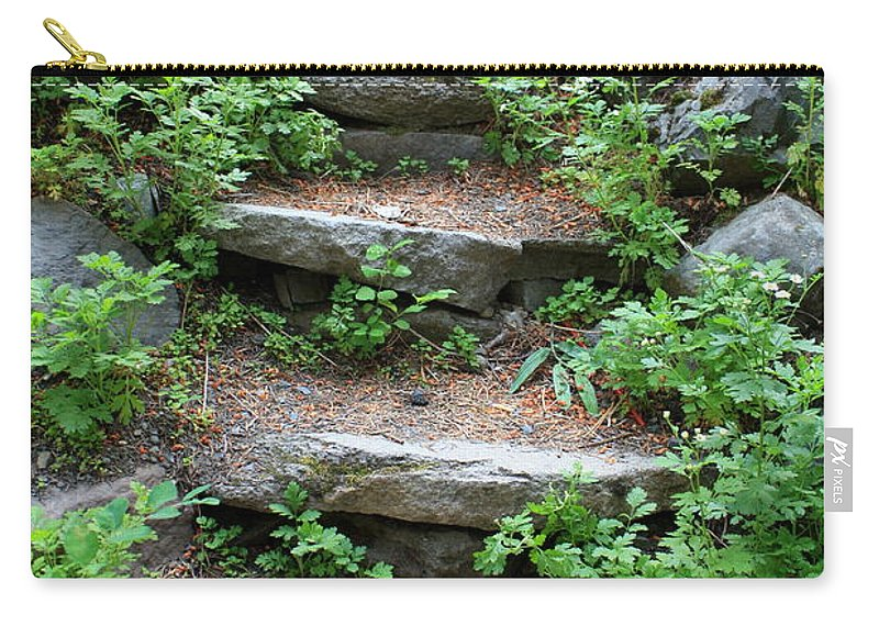 Rock Stairs Carry-all Pouch featuring the photograph Rock Stairs by Carol Groenen