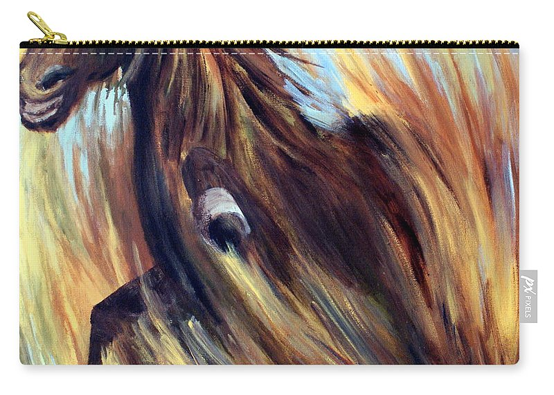 Horse Carry-all Pouch featuring the painting Rock Star by Joanne Smoley