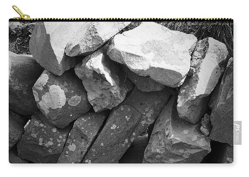 Irish Carry-all Pouch featuring the photograph Rock Wall Doolin Ireland by Teresa Mucha