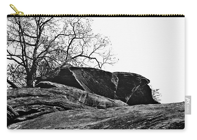 Landscape Carry-all Pouch featuring the photograph Rock Wave by Steve Karol