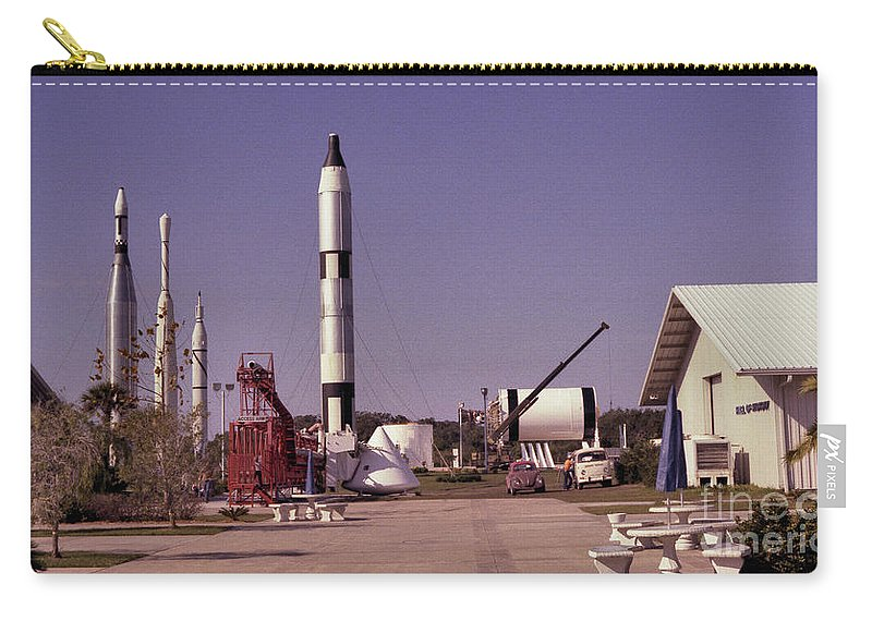 Rocket Carry-all Pouch featuring the photograph Rocket Garden by Richard Rizzo