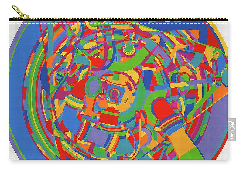 Rocket Carry-all Pouch featuring the painting Rocket by Janet Hansen